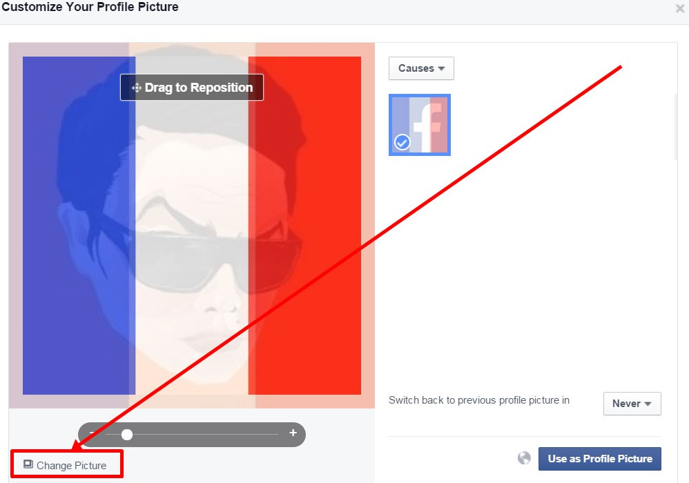 How to change your Facebook profile photo to support France and the ...