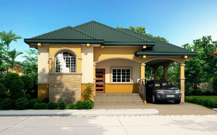 Floor Plan Code: SHD-2015017 Bungalow House Plans Beds: 3 Baths: 3 Floor Area: 145 sq.m. Lot Area: 264 sq.m. Garage: 1