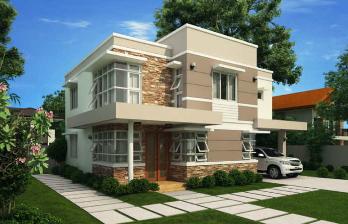 top house blueprint designer. modern house design 2012006 View01 700x450 Top 10 House Designs or Ideas For OFWs by Pinoy ePlans  Kwentong OFW