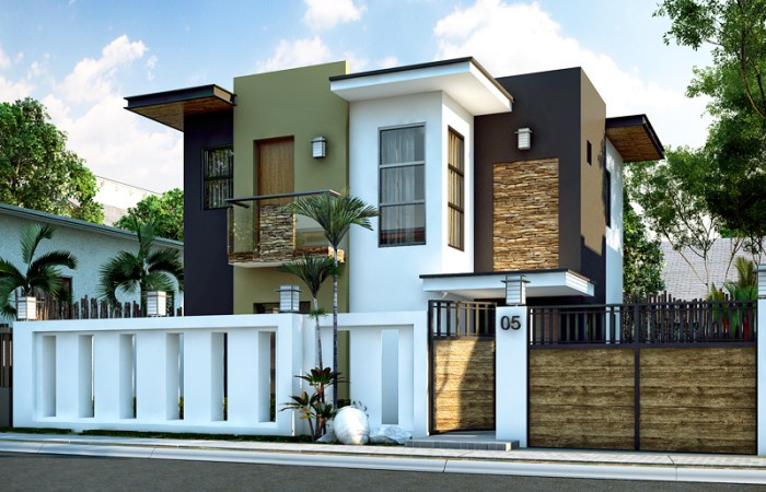 Floor Plan Code: MHD-2015016 Modern House Designs Beds: 4 Baths: 2 Floor Area: 93 sq.m. Lot Area: 106 sq.m. Garage: 1