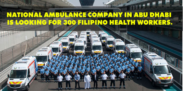 National Ambulance Company Is In Need Of 300 Filipino