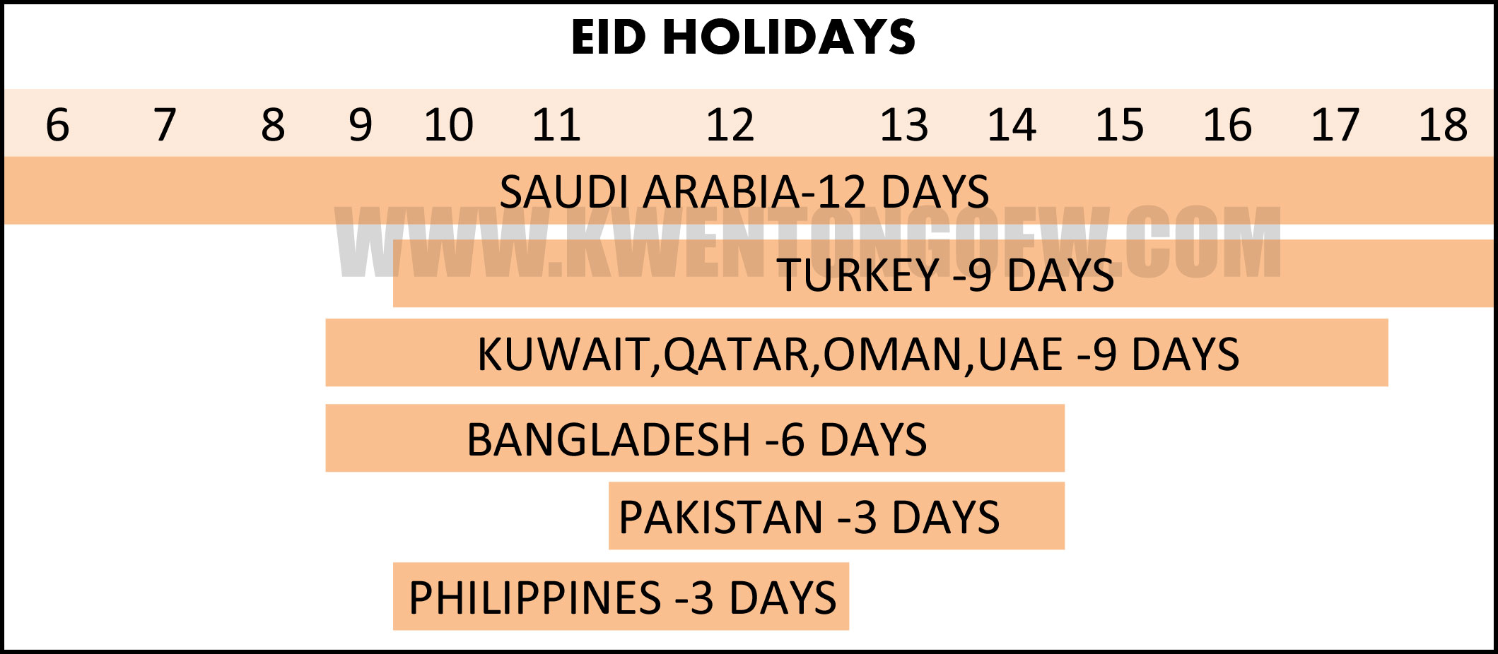 eid al adha holiday days of holidays by counrtries kwentong ofw