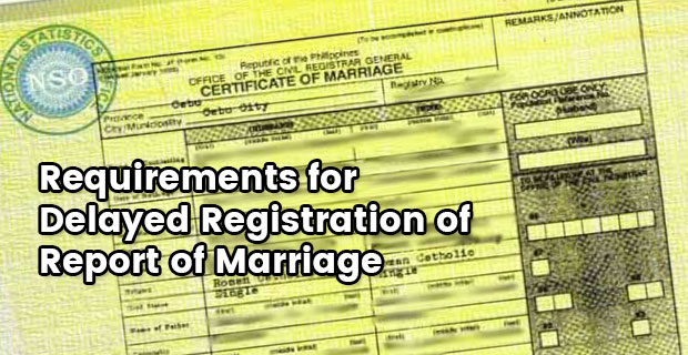 Dfa requirements for delayed registration of report of marriage dfa requirements for delayed registration of report of marriage altavistaventures Choice Image