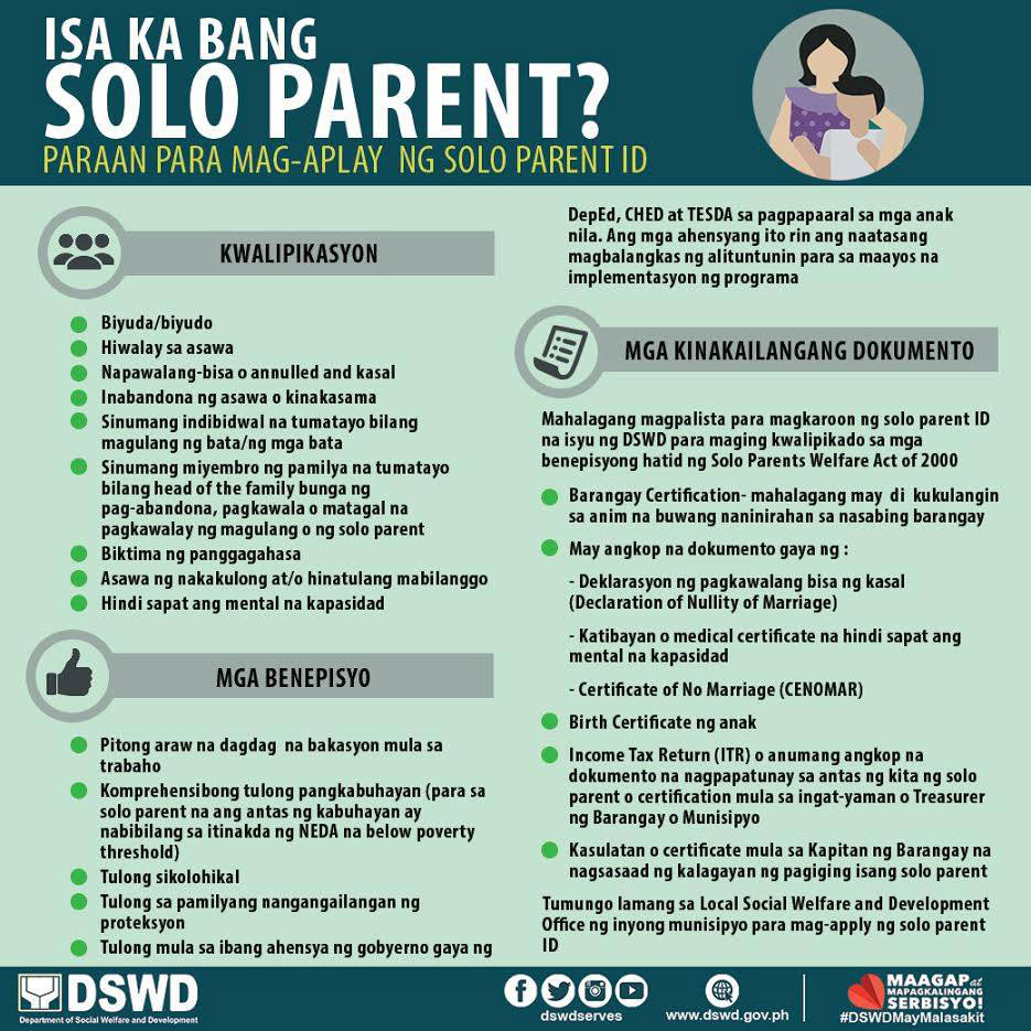 Are you a solo parent secure your solo parent id and avail your a barangay certificate 1betcityfo Gallery