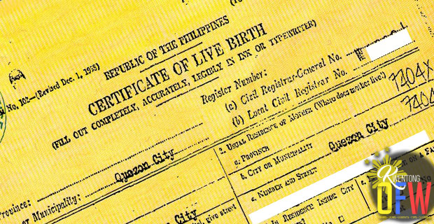 How To Correct A Wrong Entry In A Birth Certificate Kwentong Ofw